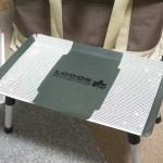 一工夫!氷上で安定しないテーブルには滑り止めを付けるとアラ便利!