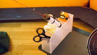 【釣り道具DIY】ワカサギ釣りのピンセットやハサミはツールスタンドへ収納!