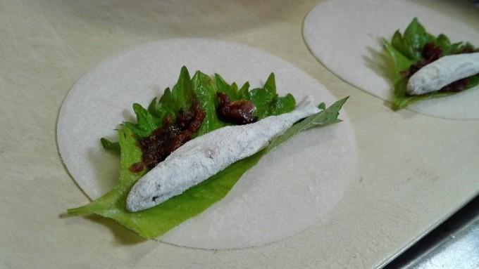カリッとワカサギ包み揚げレシピ